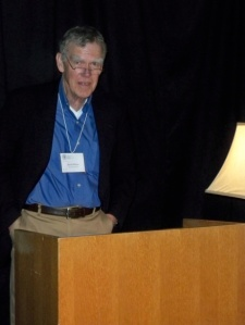 David Wilson delivering the Pierson Memorial Lecture